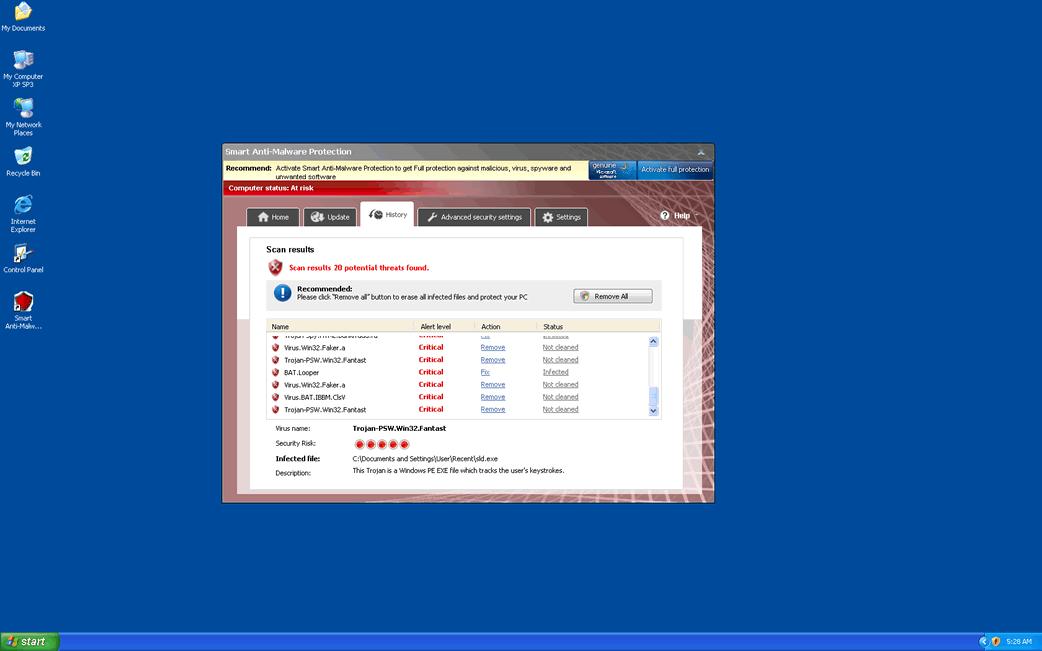 Smart Anti-Malware Protection or Win32/Adware EoRezo E